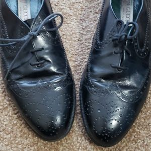 Gucci Black Leather Oxford Loafers